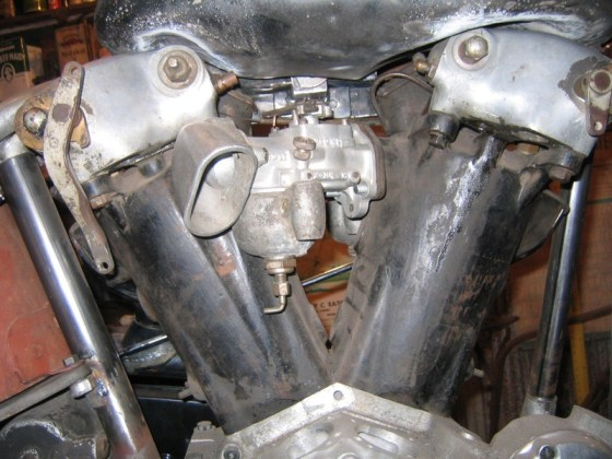 Drake water-cooled Knucklehead conversion