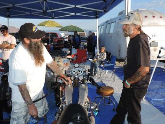Engine builder Micah McCloskey (right) brings his experience on the salt to Wink's 2013 crew
