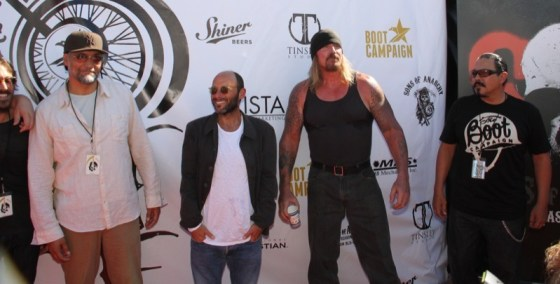 Jimmy Smits, Michael Marisi Ornstein, Rusty Coons and Emilio Rivera take over the red carpet at Happy Ending restaurant
