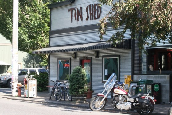Finishing the day with a tasty nosh at Tin Shed