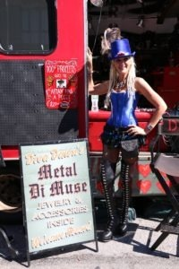 Diva Dawn donated all proceeds from Metal di Muse belt buckle sales to Aidan Has a Posse