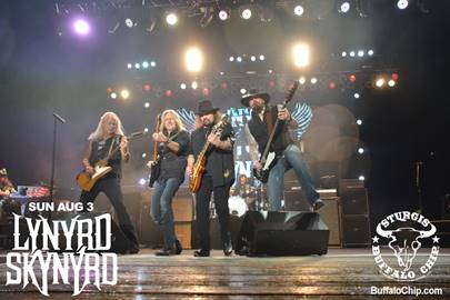 Lynyrd Skynyrd performs at the Sturgis Buffalo Chip