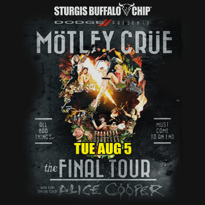 Buffalo Chip Motorycle and Music Fest added to Mötley Crüe farewell tour