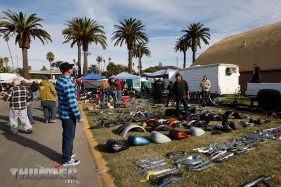 Swappers and shoppers soak up the warm vibes that come with the David Mann Chopperfest