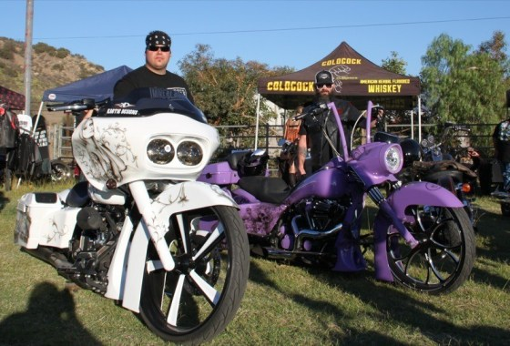 Kaotic Designs brought some slick big-wheeled baggers to display at the Pala Casino
