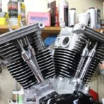 The pushrods are installed, along with the pushrod and tappet covers