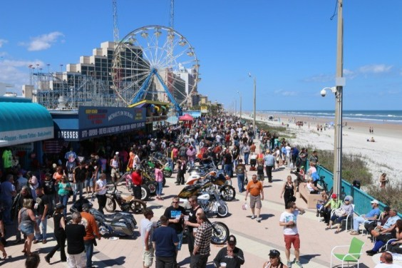Daytona Bike Week Board Walk Bike Show - More than 100 bikes competed in the Boardwalk Bike Show on Friday