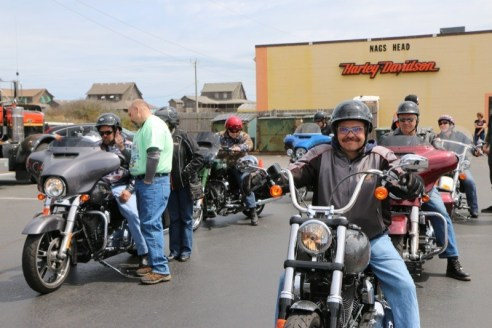 Outer Banks H.O.G. conducted demo rides at Nags Head H-D the last weekend of Bike Week