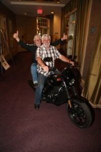 JT Hasley and Mark Ruffalo test the two-up capabilities on the new H-D Street