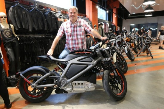 Jeff Richlen, Harley-Davidson's chief engineer for Project LiveWire, was on hand for the launch at H-D of NYC