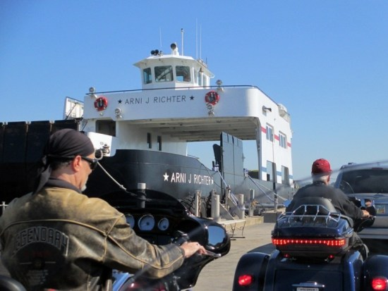 The Arni J. Richter ferry shuttled anxious riders to Washington Island across the threshold of Death's Door (www.wisferry.com)