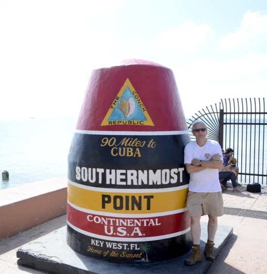 The southernmost point marker