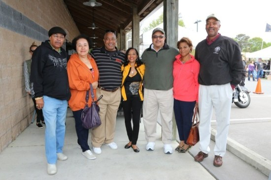 Outer Banks Bike Week is a family affair, evidenced by the family of Maurice and Cynthia Slaughter (third and fourth from left) that showed up for the event