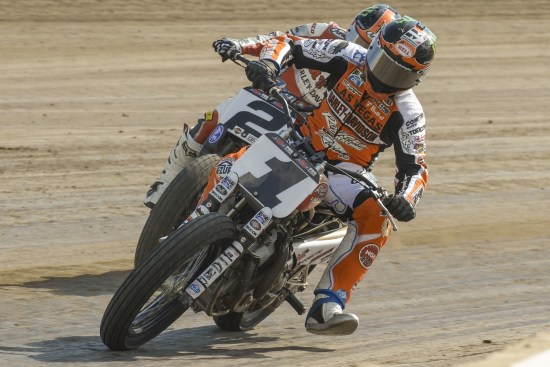 Harley-Davidson Screamin' Eagle Wrecking Crew riders Jared Mees #1 and Kenny Coolbeth Jr. #2