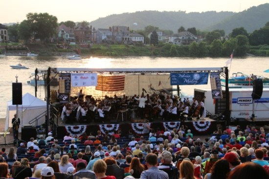 The Wheeling Symphony Orchestra performed a special concert for the city's 4th of July celebration