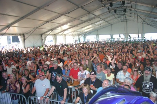 The Ocean Stage tent at the Inlet was jam-packed for every concert