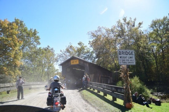 Approaching the State Road Bridge on the gravel road