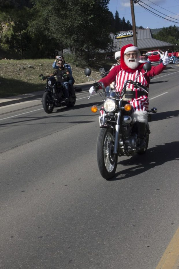 48th annual Golden Aspen Rally, santa biker