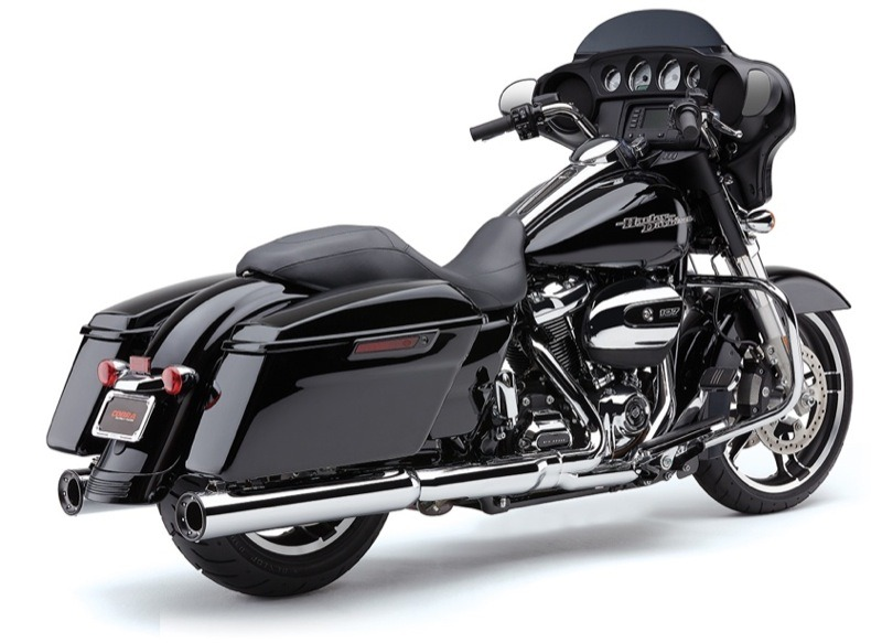 Cobra produces a wide range of slip-on mufflers, header pipes and complete exhaust systems including products for the new Milwaukee Eight