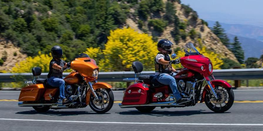 ackie Menzies and Christie Ackmann of Sin Sity Sisters on Highway 330 heading up to Big Bear