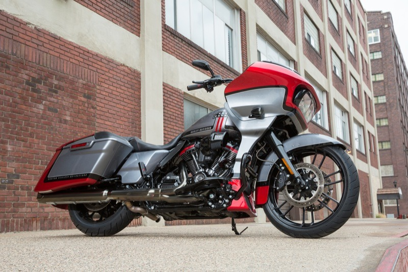 "A shark-nose, frame mounted fairing coupled with killer paint graphics and 117"" of M-8 power for the 2019 CVO Road Glide… it don't get no better"