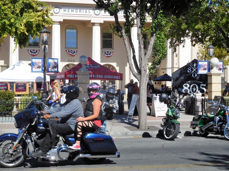 Hollister Powersports opens a satellite party at the Veterans Memorial Hall in downtown Hollister with vendors, live music and the Return of the Wild One Saloon