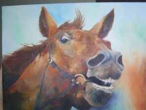 Mad horse - oil on canvas