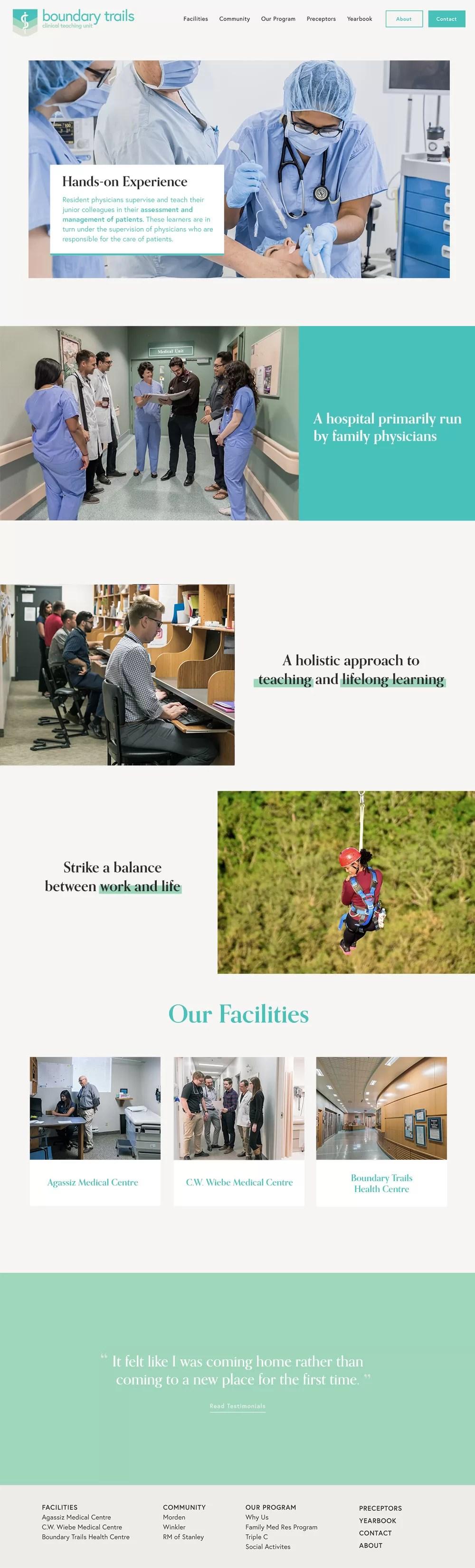 Boundary Trails Clinical Teaching unit Homepage screenshot