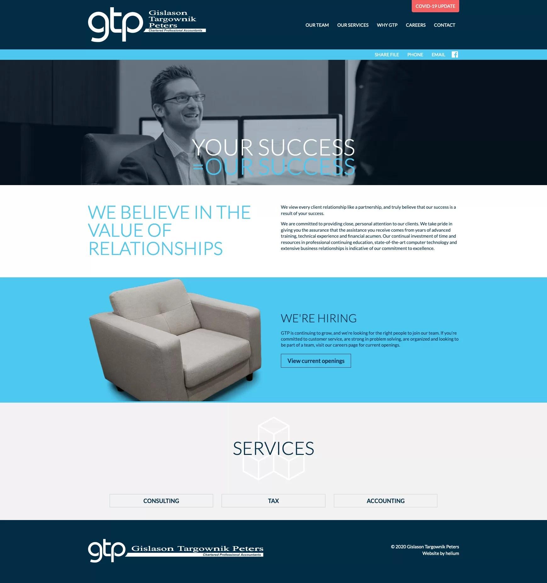 GTP Website Desktop