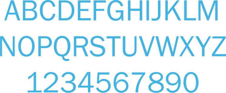 franklin gothic book font showing all letters and numbers