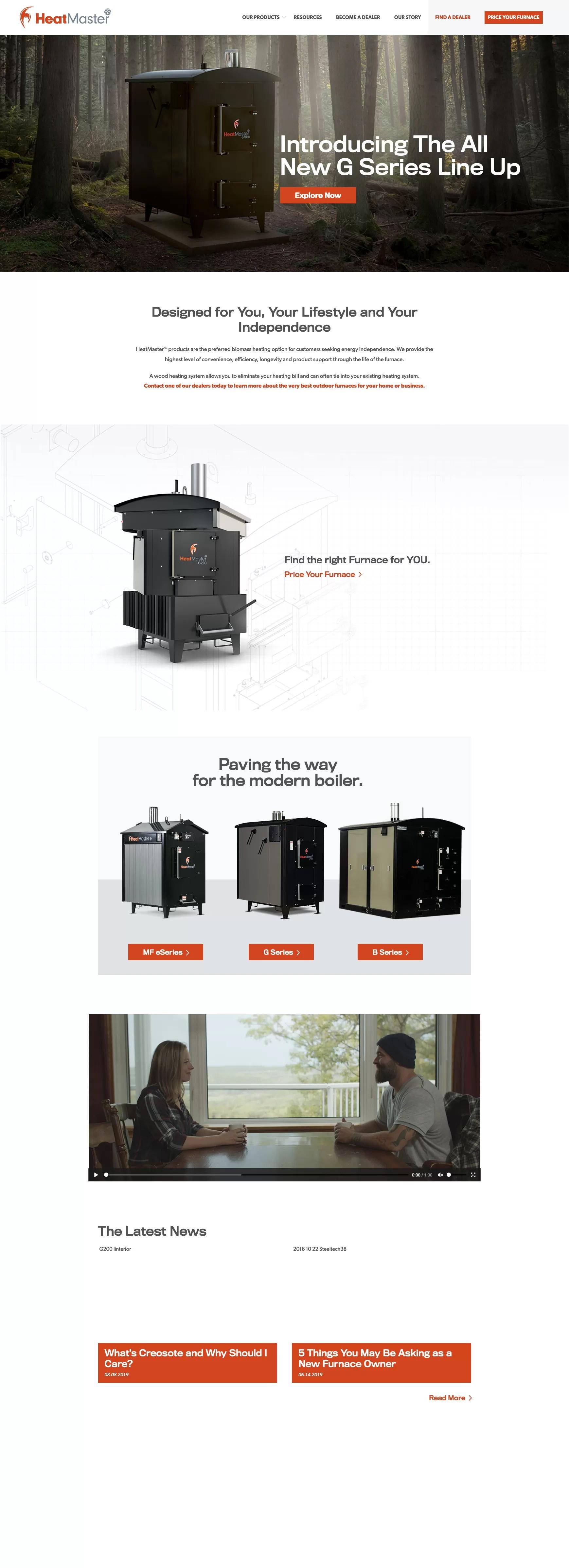 Heatmasters Homepage Desktop