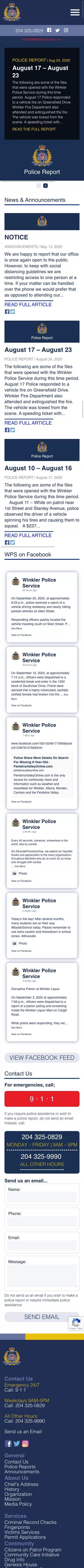 Home Winkler Police Service iPhone edited