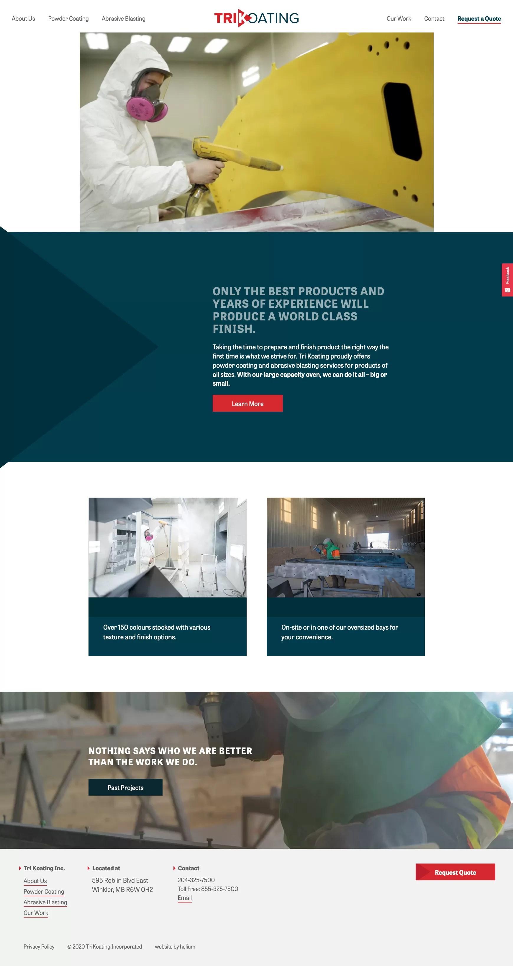 TK homepage desktop
