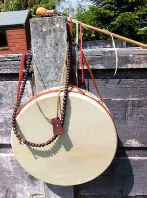 the shamanic drum awaits the next journey
