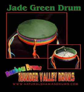 Jade Green Rainbow Drum