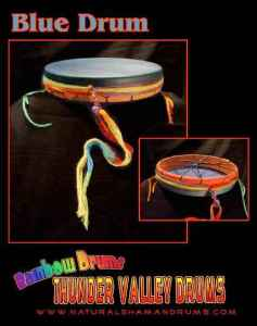 Blue Rainbow Drum from Thunder Valley Drums
