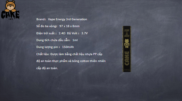 99cake ENERGY DISPOSEABLE VAPE PEN