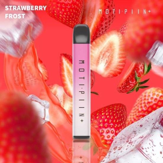 Pod 1 lần Moti Piin Plus Strawberry Frost vị dâu lạnh 1500 hơi- Thuốc Lá Xanh