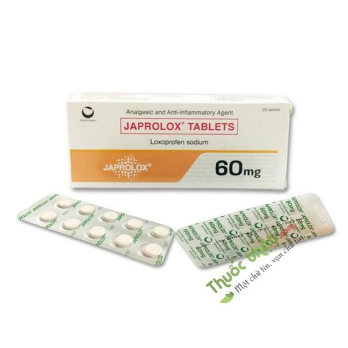 Japrolox 60mg - Thuốc Giảm đau Hạ Sốt Chống Viêm