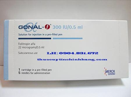 Thuốc Gonal-F Follitropin 75/300/450iu là thuốc gì. giá bao nhiêu?