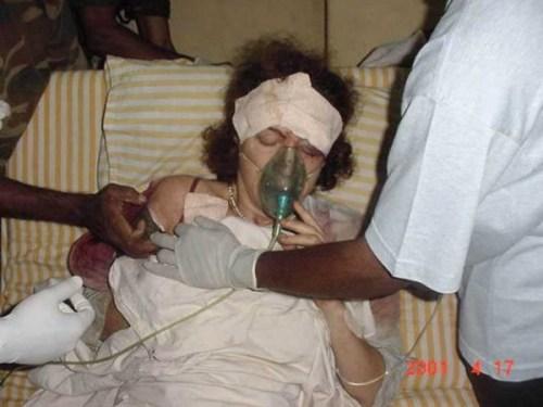 COLVIN IN vAVUNIYA HOSPITAL -AP+ Govt info dept
