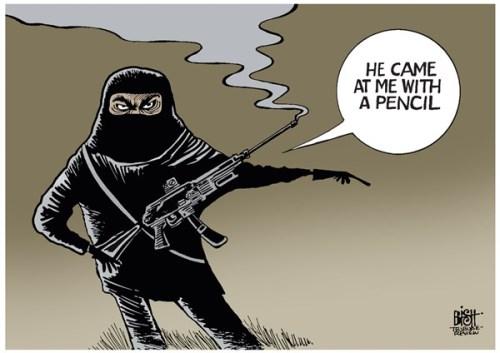 CHARLIE Hebdo -pencil cartoon- www-cagle-com