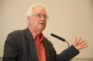 Benedict Anderson and Dr. Niall î Dochartaigh at NUI Galway Photograph by Aengus McMahon