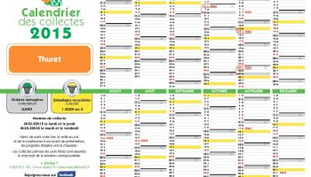 Calendrier Collecte Sba 2021 Calendrier des collectes du SBA – bac vert – bac jaune – Thuret