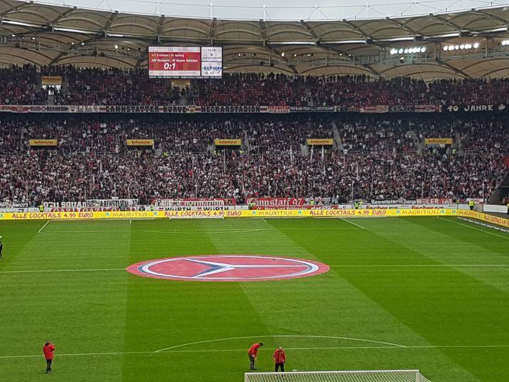 Mauritius Bandenanimation @ Mercedes-Benz Arena / VFB Stuttgart Heimstadion