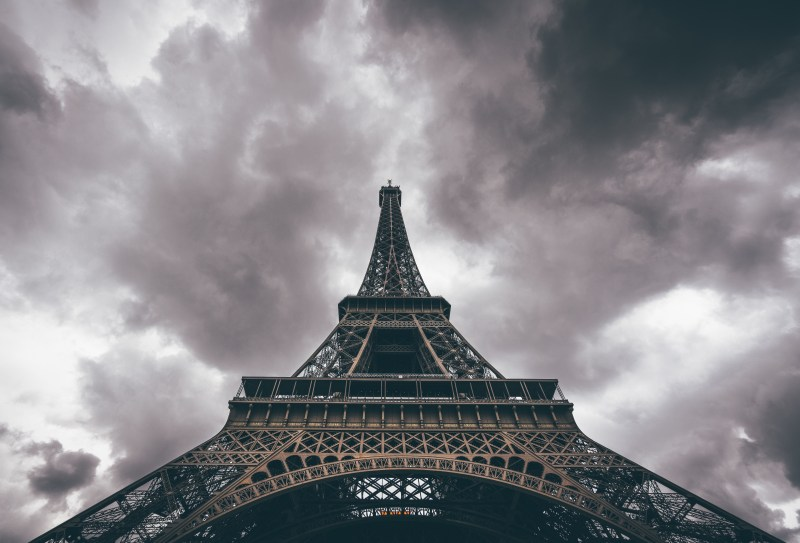 Dark Prospects. Storm Clouds over the Eiffel Tower. Photo by Benny Jackson.