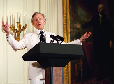 Tom Wolfe at the White House, 2004