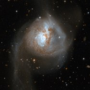 Galaxy Collision - in NGC 3256
