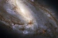 Spiral Galaxy M66 Close Up