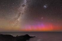 Red Aurora Over Australia